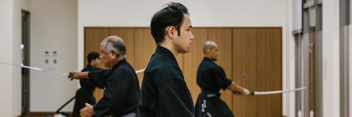 OIST members doing Iaido