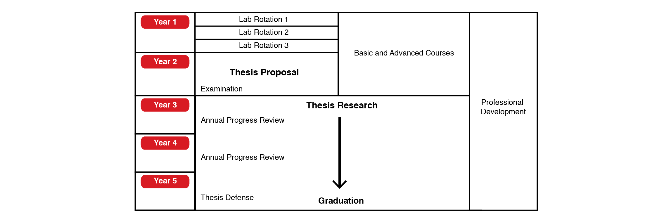 Illustration of degree structure