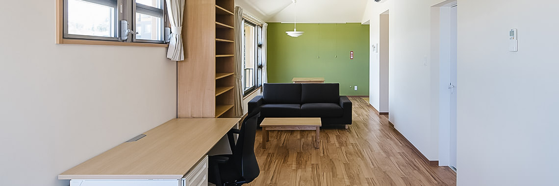 Photo of the interior of OIST housing
