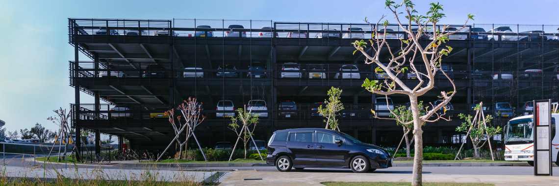 Photo of OIST parking building