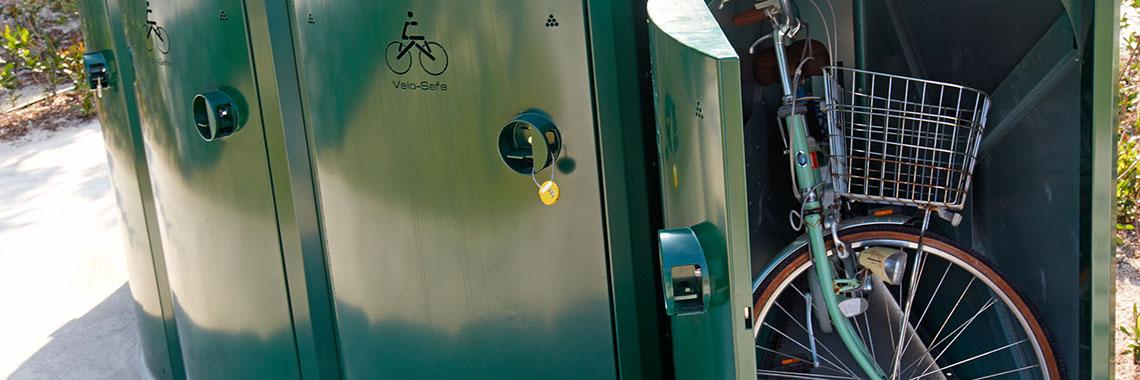 Velosafe bike lockers at OIST
