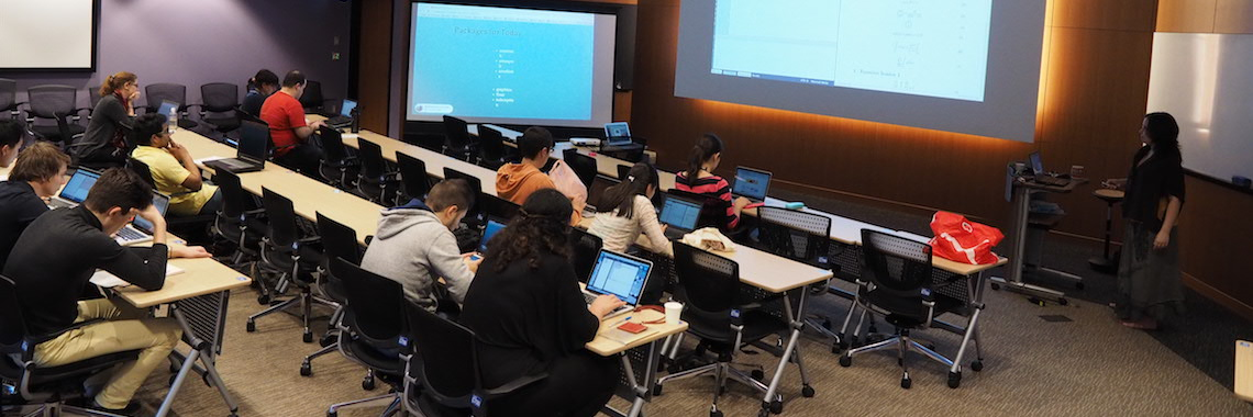 A room of students in a Skill Clinic session.